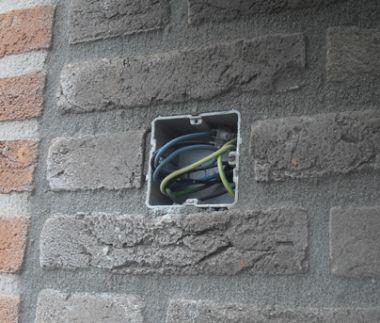 Draad muur inbraak vakantie buitenlamp montage buitenverlichting