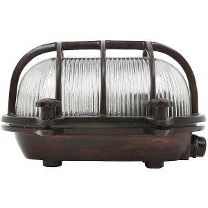 dundee bulleye stallamp buitenlamp messing verouderd antiek brass