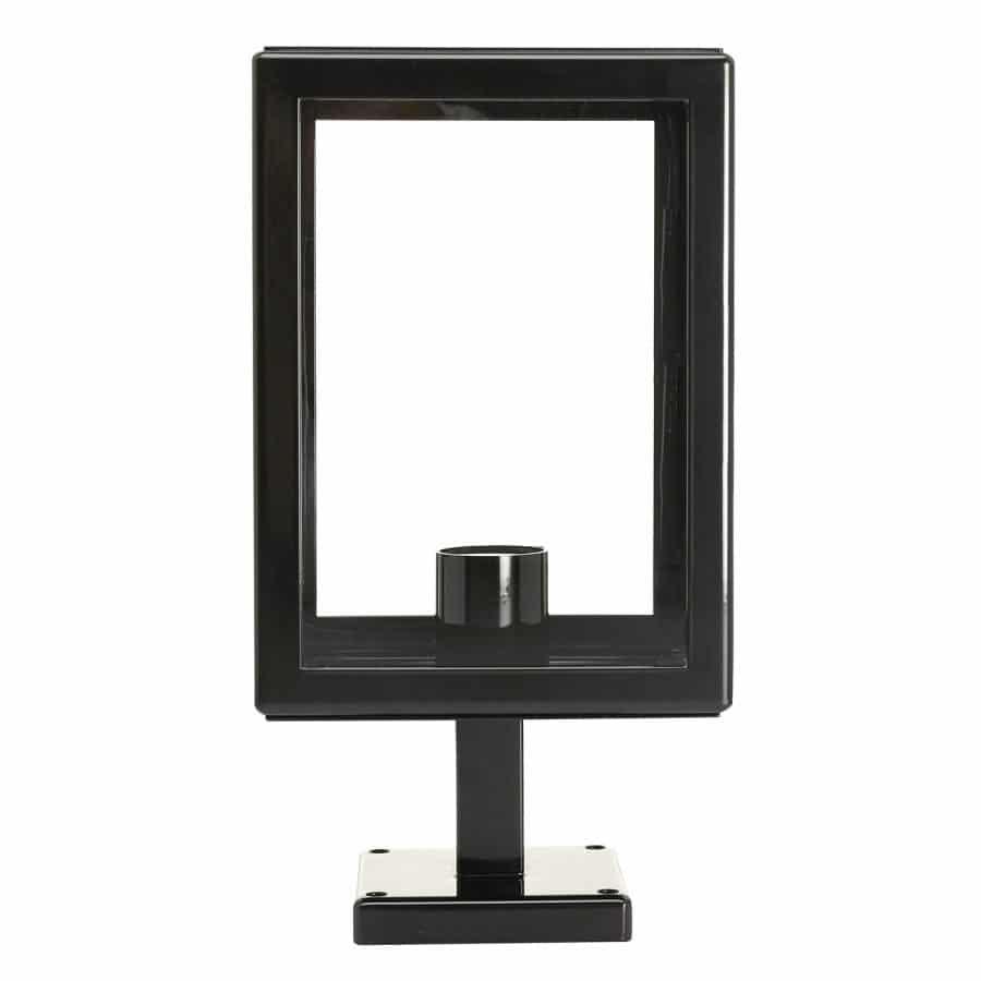 Sokkellamp vierkant poer Munchen zwart TuinExtra