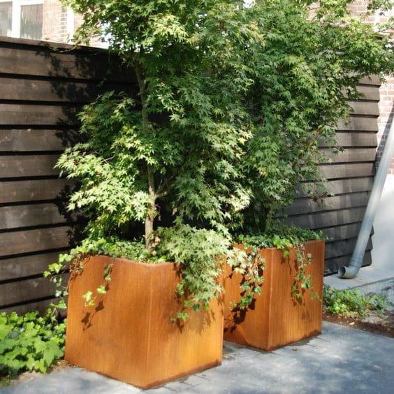 bloembak vierkant cortenstaal tuin roest tuinextra plantenbakken