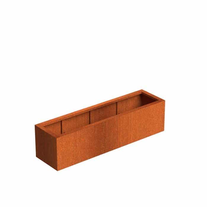 Bloembak cortenstaal rechthoekig 150 x 40 x H 40 cm TuinExtra