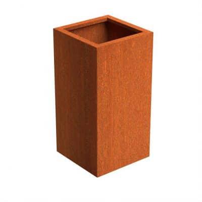Bloembak cortenstaal roestig 50 x 50 x H 100 cm TuinExtra