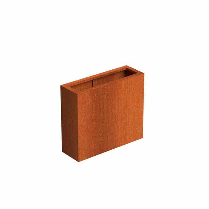 Bloembak cortenstaal 90 x 30 x H80 cm roestige plantenbak