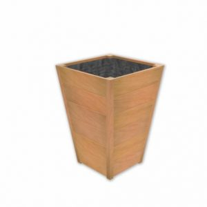 plantenbak bloembak teak hardhout taps vierkant