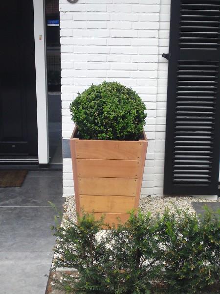 plantenbak bloembak hardhout tuinextra vierkant