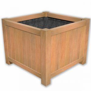 Bloembak plantenbak hardhout vierkant op pootjes TuinExtra