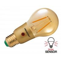 Led sensor amber warmwit schemerschakelaar e27 3 watt 250 lumen