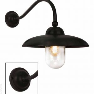 stallamp Lucco haaks tierlantijn 735 brons brown black finish buitenverlichting