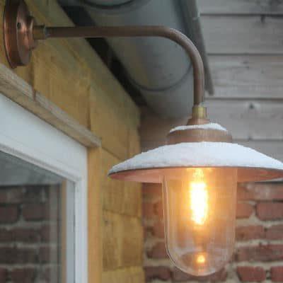 Koperen Stallamp haaks Arnhem TuinExtra buitenlampen
