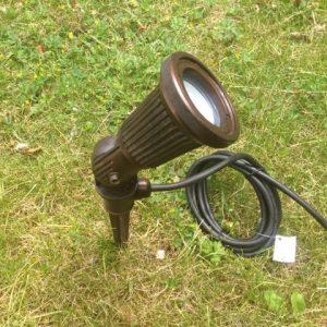 Prikspot led 12 volt warmwit tuinextra aanbieding zware spot brons
