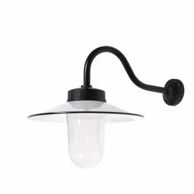 Franse stallamp zwart-wit buitenlamp boerderij TuinExtra
