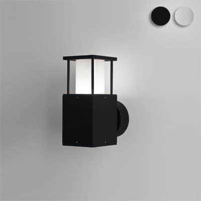 Poema buitenlamp zwart zilvergrijs vierkant TuinExtra wandalmp