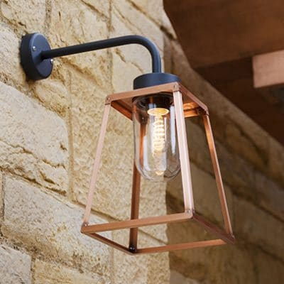 Lampiok roger pradier koper buitenlamp wandlamp