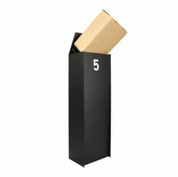 Dropbox s brievenbus pakketten zwart vierkant esafe tuinextra