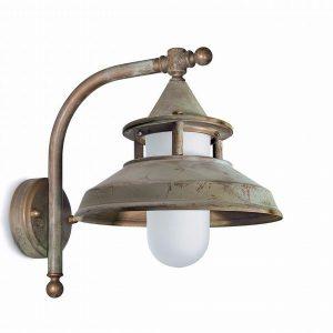 Buitenlamp messing 120 haaks verouderd aanbieding Tuinextra buitenverlichting