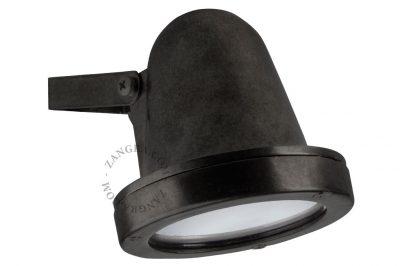 086 spot messing zwart buitenlamp g9 tuinextra wandspot