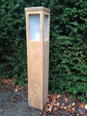 Buitenverlichting teakhout tuinextra hoog hardhouten tuinverlichting