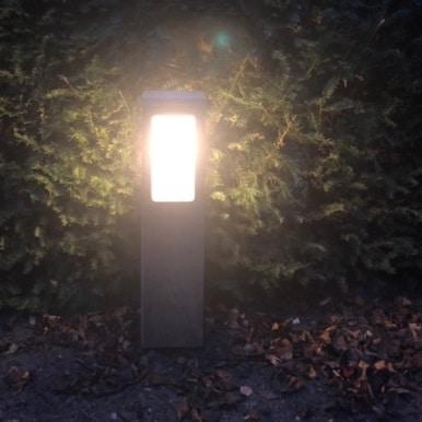 Buitenverlichting teakhout tuinextra laag hardhouten tuinverlichting