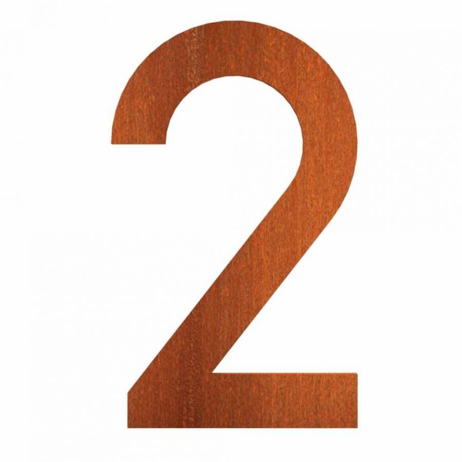 cijfers huisnummers cortenstaal tbv brievenbus roest