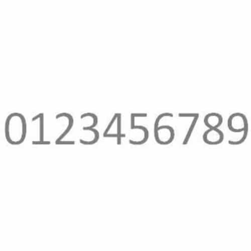 rvs cijfer huisnummer brievenbus roestvrijstaal