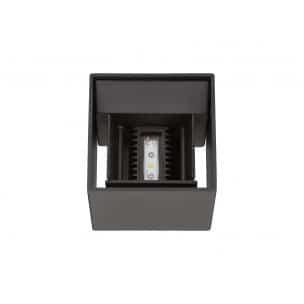 Duo wandlamp led buitenlamp verstelbaar zwart blok tuinextra