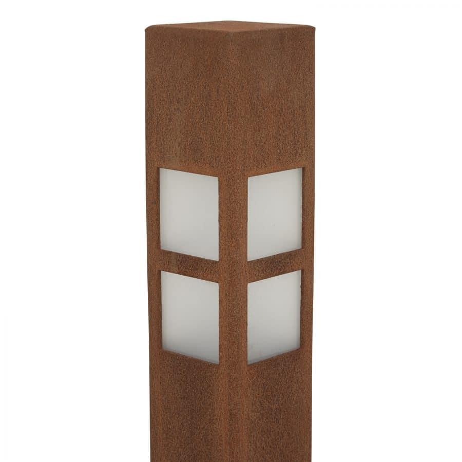Buitenlamp Oslo 110 cm cortenstaal: exclusieve buitenverlichting