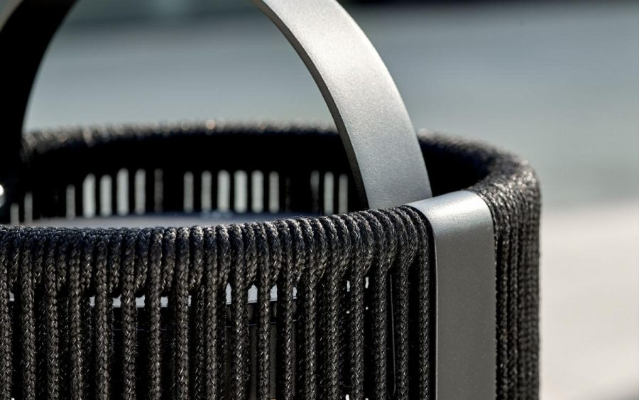 Ropy Royal Botania solar terraslamp verplaatsbaar antraciet 40 cm