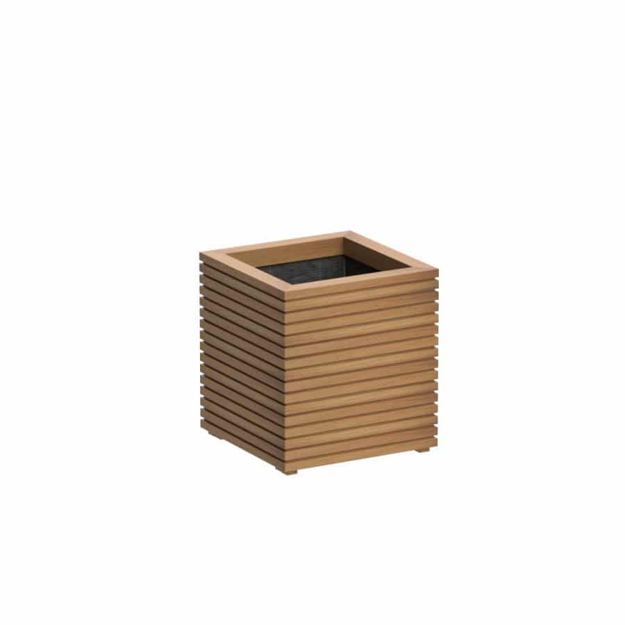 Bloembak hardhout vierkant rhombis adezz tuinextra