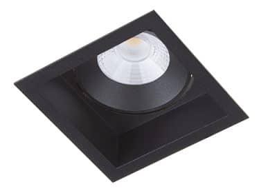 BR6215 berla inbouwarmatuur zwart led kantelbaar vierkant