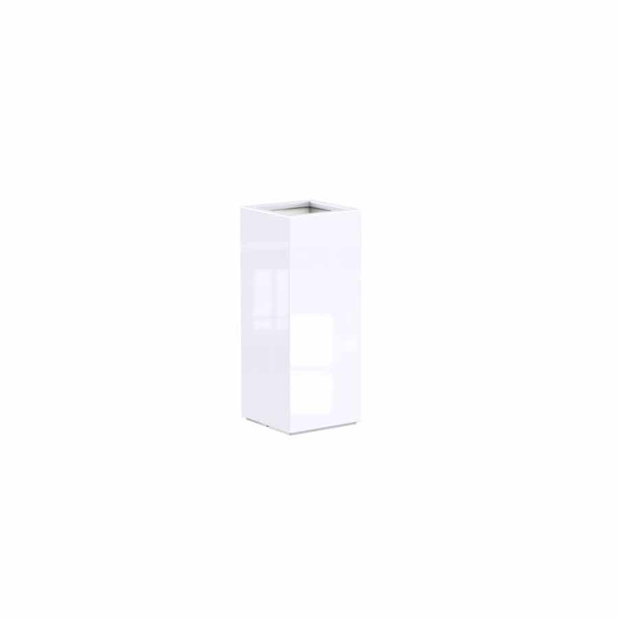 bloembak wit glossy hoogglans kunststof polyester tuinextra