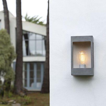 Brick buitenlamp blank aluminium Roger Pradier TuinExtra kaatsheuvel buitenverlichting