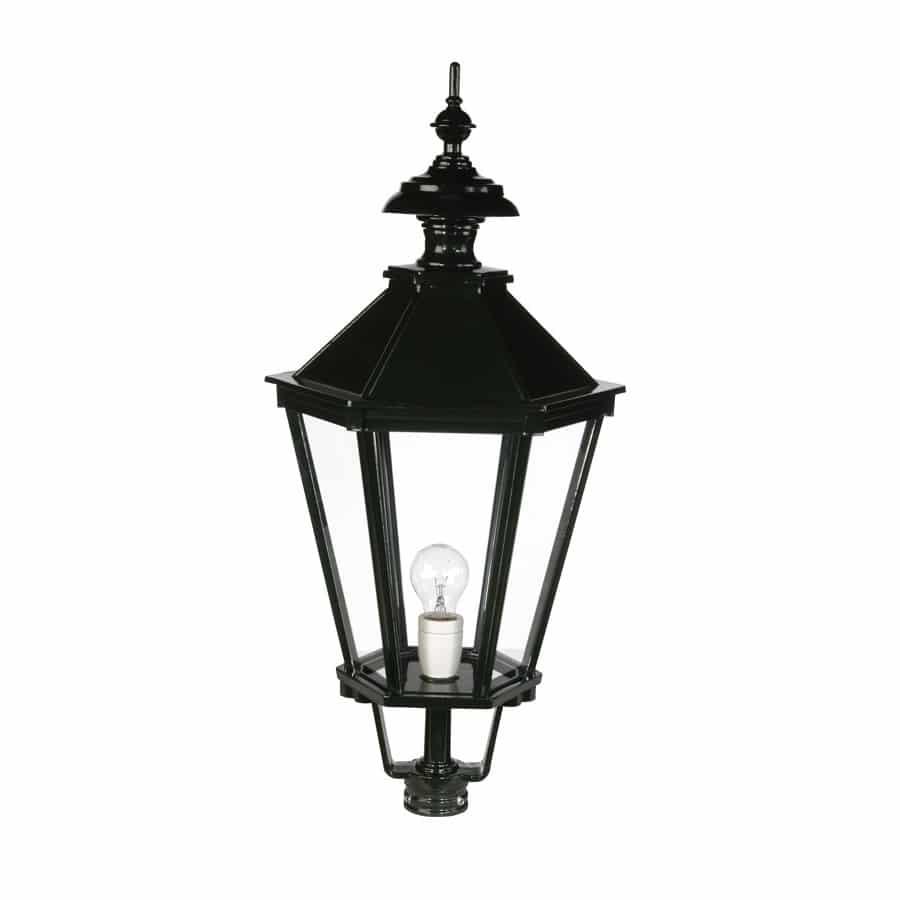 Kap zeskant oud hollands OH562 groot donkergroen buitenlampen