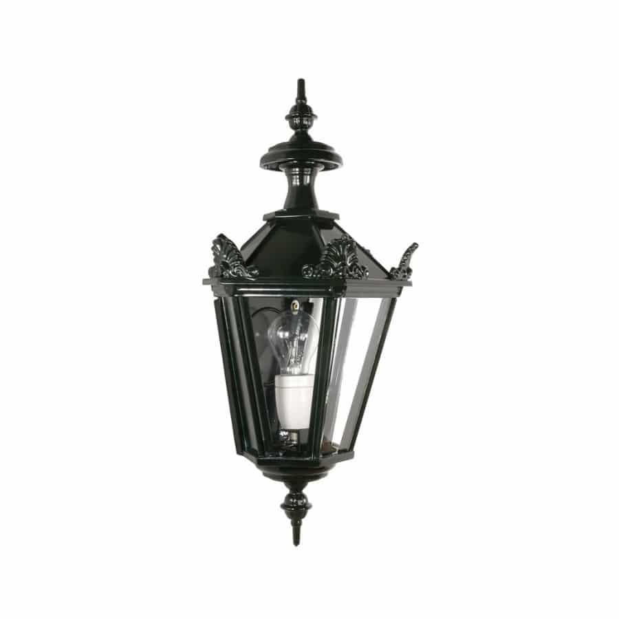 Buitenlamp OH536 zeskant plat met kroontjes donkergroen tuinextra buitenverlichting