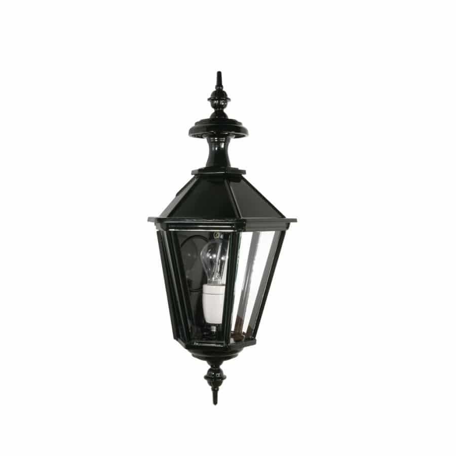 OH534 wandlamp plat zeskant donkergroen buitenlamp tuinextra