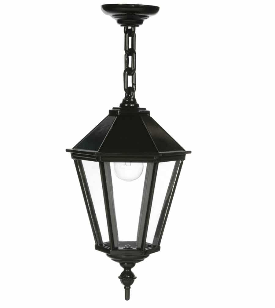 OH568 tuinextra plafondlamp aan ketting zeskant donkergroen