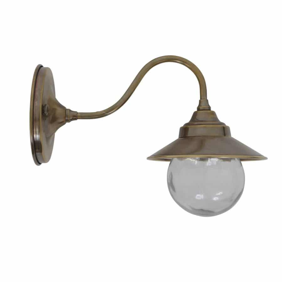 Cupid wandlamp buitenlamp messing verouderd antiek tuinextra