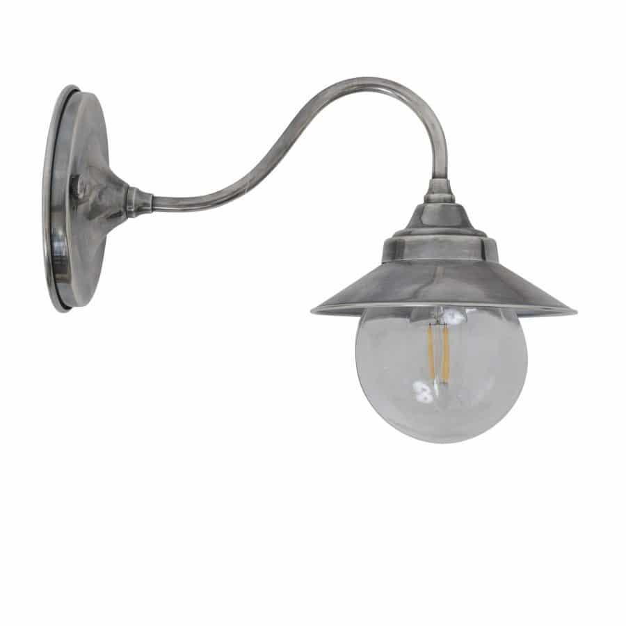 Cupid wandlamp buitenlamp zilver finish tuinextra