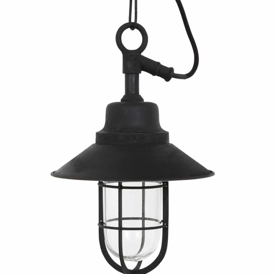 Tura plafondlamp zwart buitenlamp aan ketting