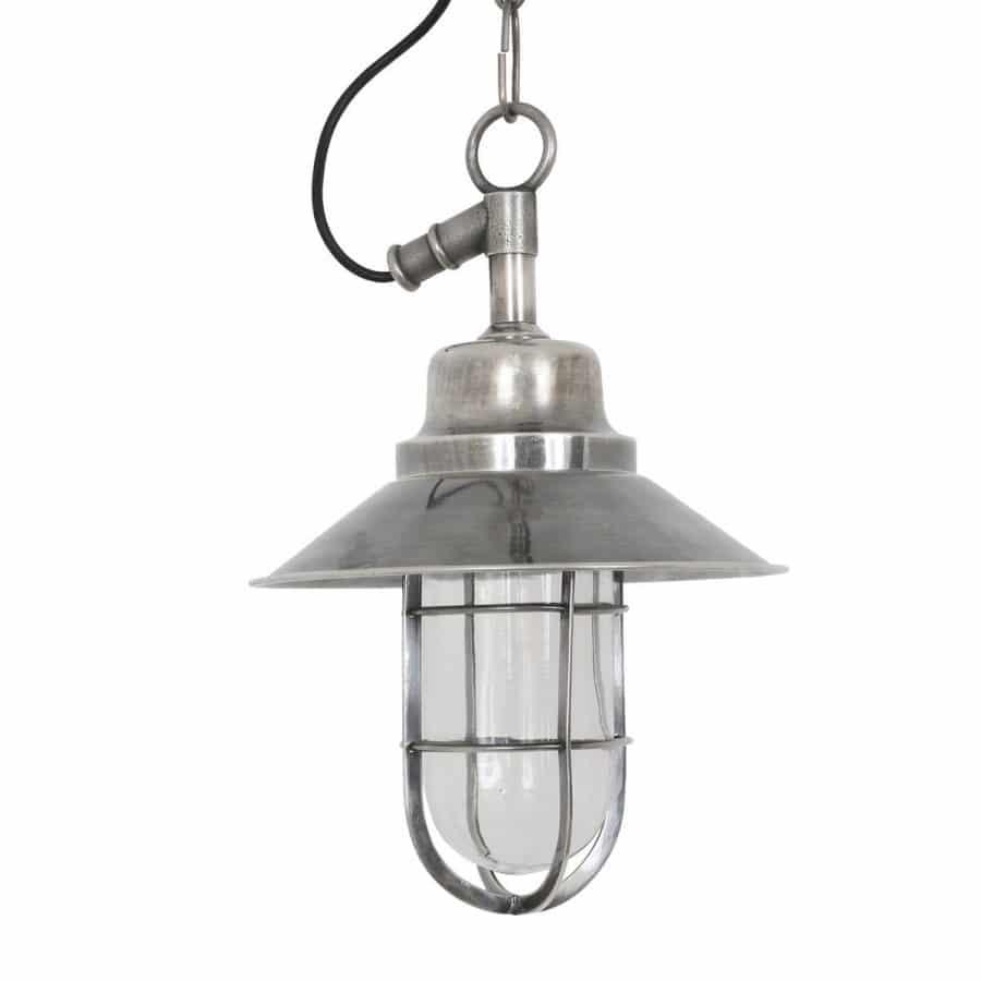 Tura plafondlamp zilver buitenlamp aan ketting