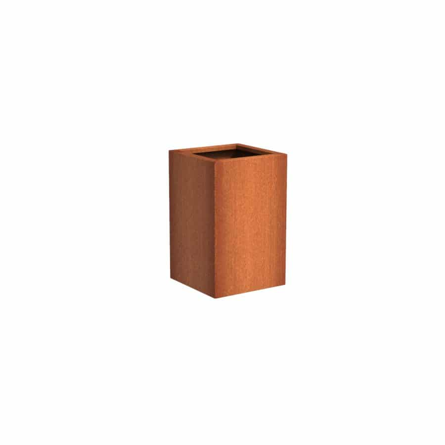 Bloembak cortenstaal roestig 50 x 50 x H 80 cm TuinExtra