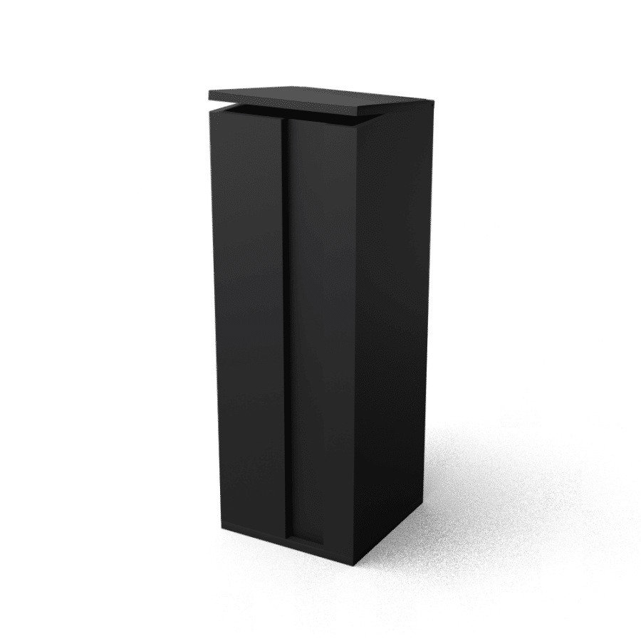 Brievenbus Collu pakketten zwart vrijstaande brievenbus TuinExtra kolom
