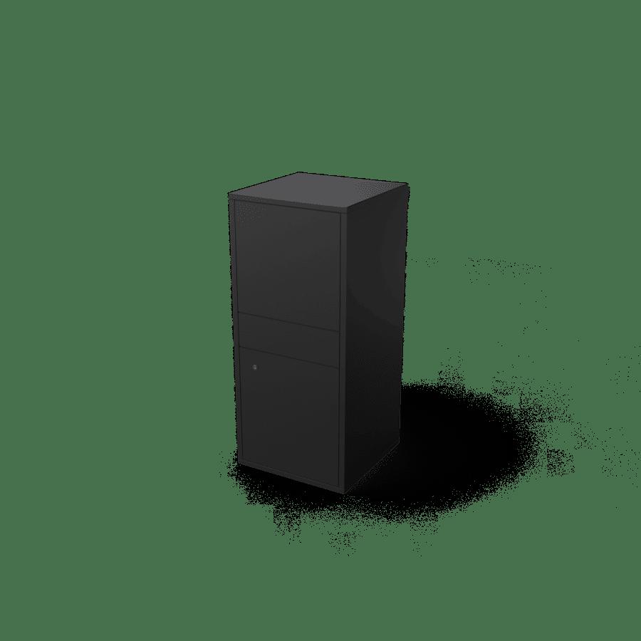 Giftu geroba zwart pakketbrievenbus tuinextra vrijstaande kolom brievenbus