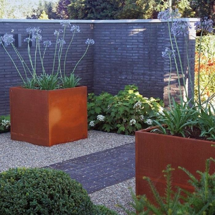 Tuinextra Kaatsheuvel bloembak roestig cortenstaal Showroom webshop