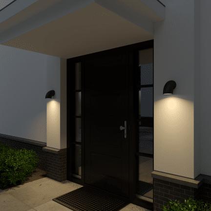 Frezoli Piegar 801.1.600 wandlamp buitenlamp matzwart