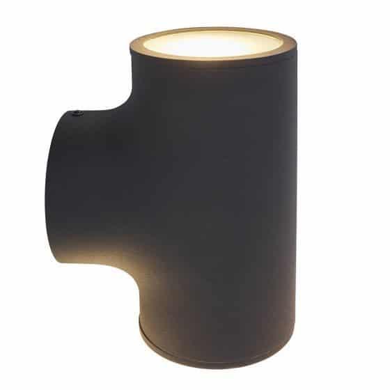 Frezoli Treviso 802.1.600 wandalmp up-downlight matzwart tuinextra buitenlampen