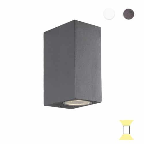Tilos A2 buitenlamp tuinextra up-downlight wandlamp antraciet GU10