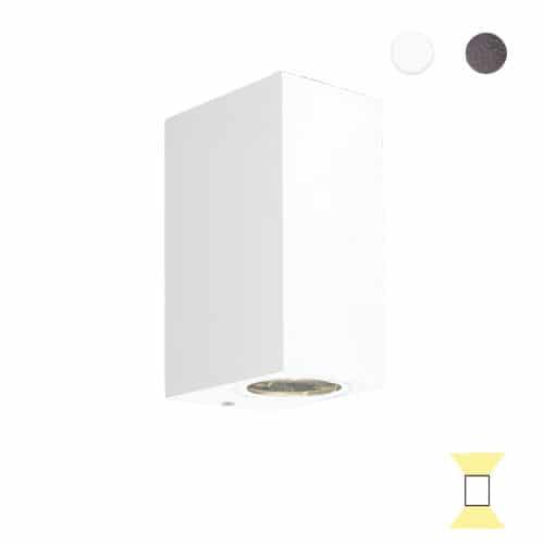 Tilos A2 buitenlamp tuinextra up-downlight wandlamp wit GU10