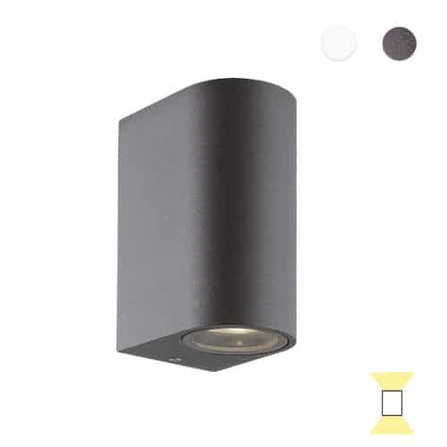 Tilos B4 rond buitenlamp tuinextra up-downlight wandlamp antraciet gu10