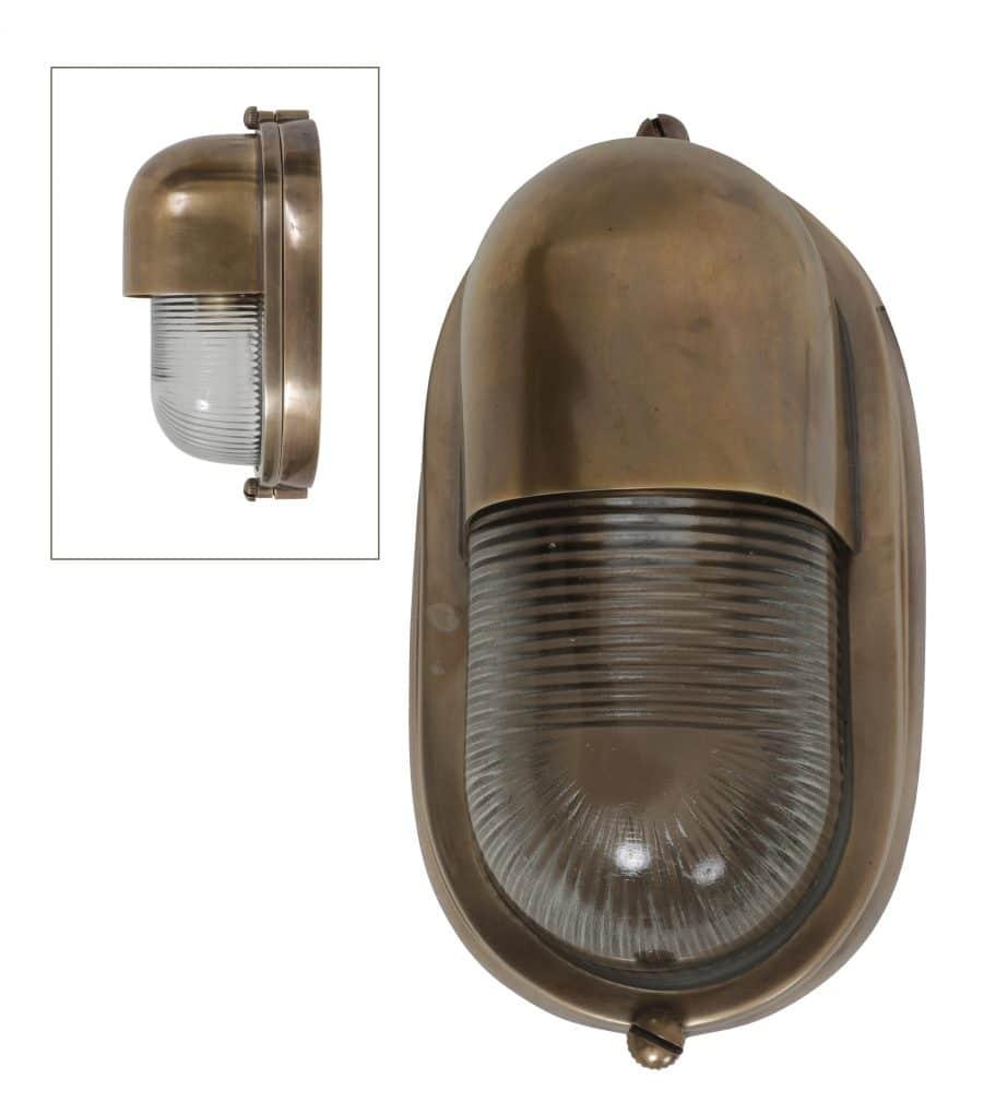 Buitenlamp stetland messing brons verouderd wandlamp tuinextra